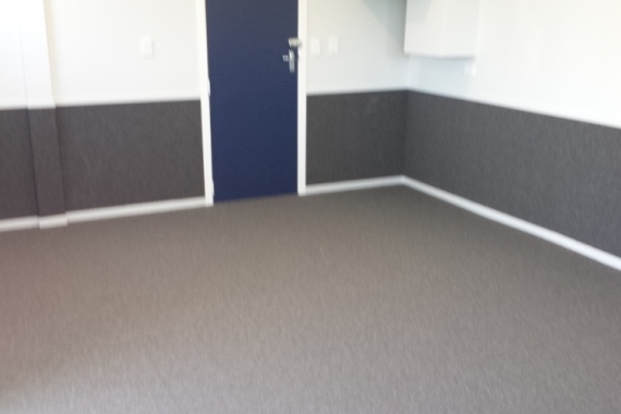 gym wall carpets installed